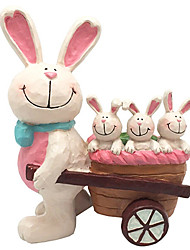 Mother Rabbit with a Basket of Baby Rabbit Collectible