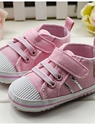 Baby Shoes First Walker Flat Heel Cotton Fashion Sneakers with Magic Tape Shoes