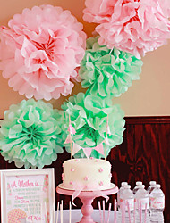 Wedding Décor 4 Inch Tissue Paper Pom Poms  Party Decor Craft Paper Flowers (Set of 4)