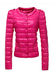 De TYT damesmode toevallige ronde kraag warme jas