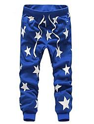 tempo libero pantaloni lunghi degli uomini stars pantaloni sport stampa harem (più colori)