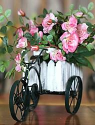 Home Decoration Artificial Silk Rose Flowers With Cart Arrangements