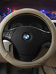 LEBOSH®Genuine Leather Steering Wheel Covers  Hand-Weaved 2 Color for Choose 37-38CM