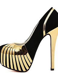 Mujer-Tacón Stiletto Plataforma-PlataformaVestido Fiesta y Noche-Vellón-Plata Oro