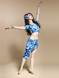 Belly Dance Women's Charming Spandex Practice Outfits Including Tops&Skirts