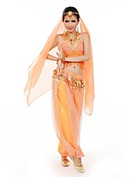 Belly Dance Women's Fashion Halter Tassel Performance Outfit Including Top/Bottom/Veil