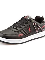 Men's Skateboarding Shoes Faux Suede Black/White