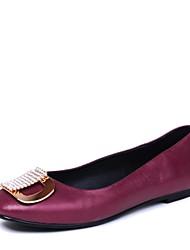 Черный / Фиолетовый / Красный - Женская обувь - Для праздника - Дерматин - На плоской подошве - С круглым носком -Обувь на плоской