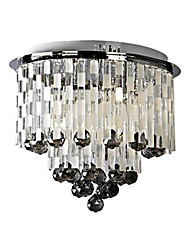 Crystal Flush Mount , Modern/Contemporary Living Room Metal