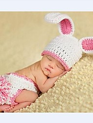 1 pcs baby's Photography  Newborn Infant Crochet Knit rabbit Beanie Animal Design Crochet Baby Costume 0-2 month