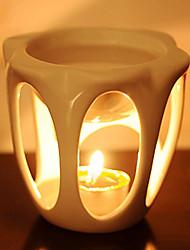 European Style Handwork Ceramics White Candle Holder