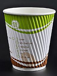 curto descartável escaldadura prevenção de café, 12 onças, 100pcs / bag