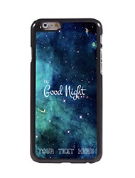 Personalized Phone Case - Good Night Design Metal Case for iPhone 6 Plus