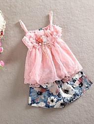 2015 новых девушек летние костюмы девушки скобки юбки + короткий брюки 2шт устанавливает дети одевая детей Baby набор одежду младенца