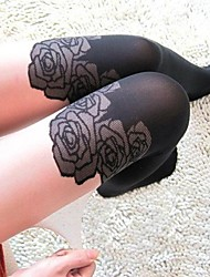 Hosiery Party/Casual Matching Leisure Rose Pantyhose
