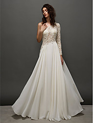 Homecoming TS Couture Prom / Formal Evening Dress - Ivory A-line One Shoulder Floor-length Lace