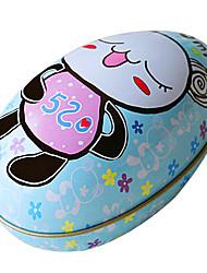 padrão cartoon panda fêmea diy easter pintado casca de ovo, folha de flandres