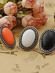 Retro Fashion Noble Oval Gemstone Rings