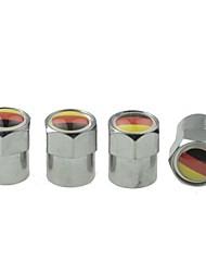 pneu de voiture de luxe drapeau national vannes de cuivre bouchon de décoration (Allemagne 4 pièces par paquet)