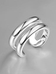 Personality Designer Simple Sterling Silver Party Bangle Ring For Women 2016