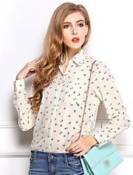 женская якоря печати шифон блузка (больше цветов)