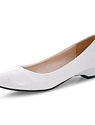 Zapatos de mujer - Tacón Bajo - Tacones / Punta Redonda - Tacones - Vestido / Casual - Cuero Patentado -Negro / Azul / Amarillo / Rosa /