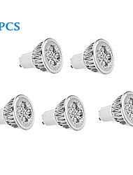 5 pcs GU10 5.5 W 4 High Power LED 330 LM Warm White/Cool White Spot Lights AC 85-265 V