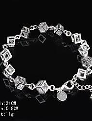 Fashion Sterling Silver Multicolor CubicZirconia Women's Bracelet