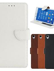Pour Coque Sony / Xperia Z3 Portefeuille / Porte Carte / Avec Support / Clapet Coque Coque Intégrale Coque Couleur Pleine Dur Cuir PU pour