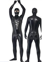 dos homens negros bodysuit gimp traje com alças