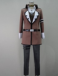 Inspired by Vocaloid Cosplay Video Game Cosplay Costumes Cosplay Suits Patchwork Brown Long SleeveCoat / Shirt / Pants / Gloves / Belt /