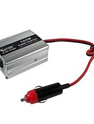 BEAUTY-CAR 100W DC 12V to AC 220V Car Power Inverter(Silver)