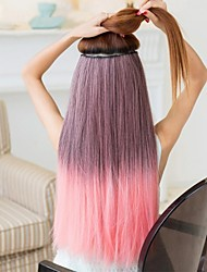 Five Clip and Long Straight Cradient Color Extensions
