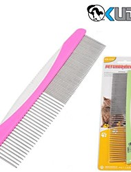 Grooming Comb Pet Grooming Supplies Portable Stainless Steel Multicolor
