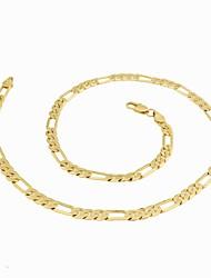 Figaro 55 centímetros homens cadeia dourado chapeado colares cadeia