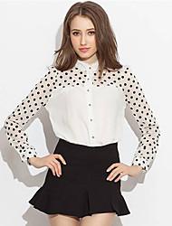 De monika vrouwen polka dots print blouses