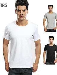 roupas masculinas da marca abetos nova moda esporte casual camiseta 100% algodão o-pescoço camisas camisetas homens