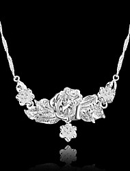 Dora Fashion All Match Silvering Flower Necklace