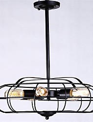 Pendentif style campagnard lumière fer forgé