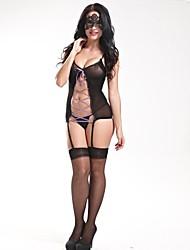Women Gartered Lingerie/Ultra Sexy Nightwear , Cotton/Core Spun Yarn