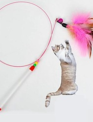 Cats Toys Pet Toys Teaser / Feather Toy Stick Textile