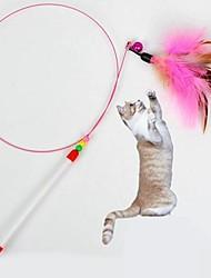 Коты Игрушки Игрушки для животных Дразнилки / Игрушка с перьями Стик Текстиль