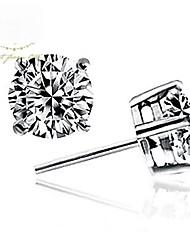 Women's Fine Jewelry 925 Sterling Silver Earring Stud One Pair