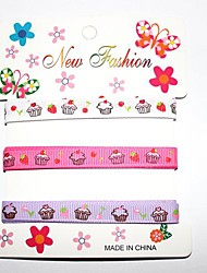 3/8 Inch Cake pattern Rib Ribbon Printing Ribbon- 1 Yards Per Roll (Three Color One Card)