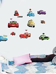 Autocollant Mural - Rouge - Dessin-Animé  - en Plastique