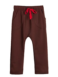 Boy's Cotton Blend Pants,All Seasons Solid