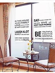 adesivi murali decalcomanie della parete, le parole&cita adesivi murali in pvc