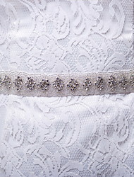 Satin / Satin/ Tulle Wedding / Party/ Evening / Dailywear Sash-Rhinestone Women's 98 ½in(250cm) Rhinestone