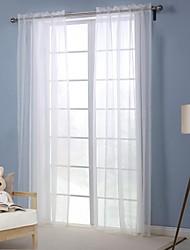 moderno panel sólido de poliéster blanco salón cortinas transparentes tonos
