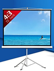 72 Inch 4:3 Portable Projector Screen with Stand